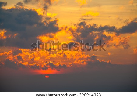 Beautiful colorful sky. Sky background