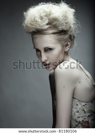 Beautiful female fashion model posing - stock photo