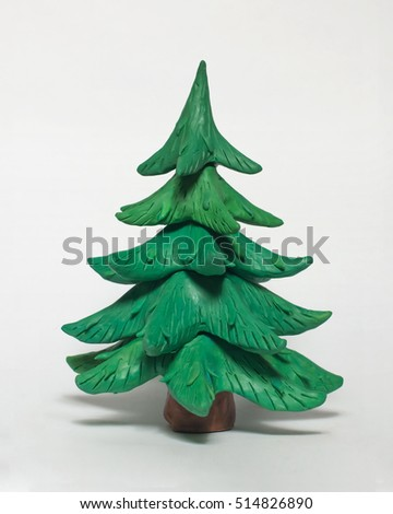 Christmas Tree Without Ornaments Stock Images, Royalty-Free Images ...