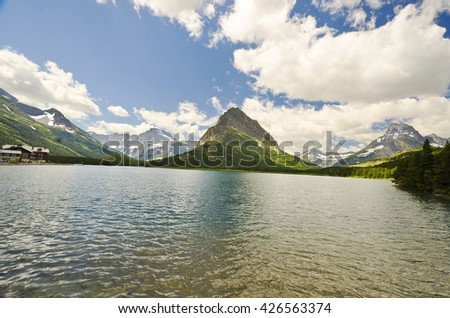Beautiful Grinnell  lake