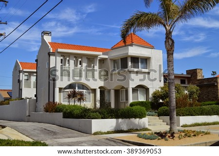 Beautiful homes and estates in the Redondo Beach City, California.