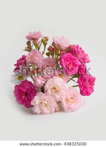 Beautiful pink rose flower bouquet background