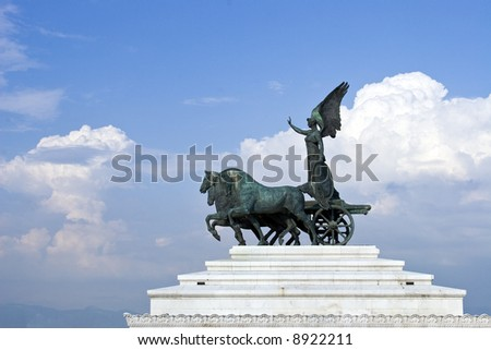 beautiful rooftop shot in Rome, Italy. - stock photo