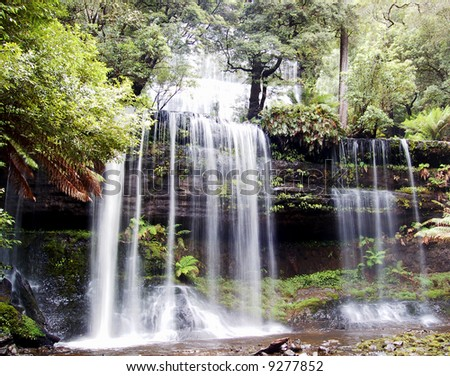 Beautiful Scenery A Waterfall In Forest