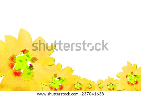 beautiful yellow flower watercolor hand-painted background