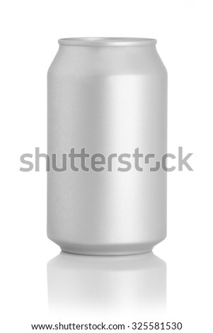 beer can on a white background - stock photo