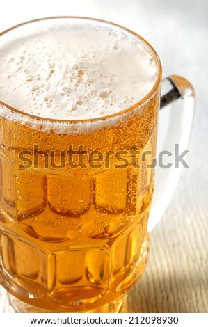 beer in mug - stock photo
