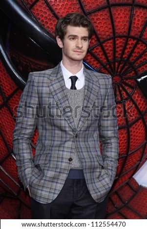 'BERLIN - JUNE 20: Andrew Garfield attends the Germany premiere of ''The Amazing Spider-Man'' at Sony Center on June 20, 2012 in Berlin, Germany. - stock photo