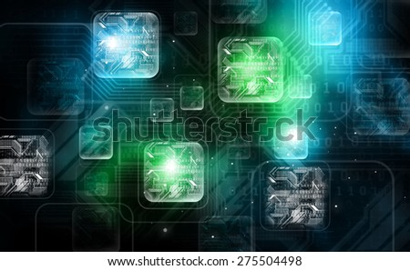 Best Concept of digital Technology background  - stock photo