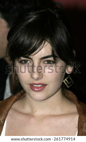 03/15/2005 - Beverly Hills - Camilla Belle at the Hugo Boss Fall Winter 2005 Men's and Women's Collections Party and Fashion Show - Arrivals at The Beverly Hills Hotel. - stock photo