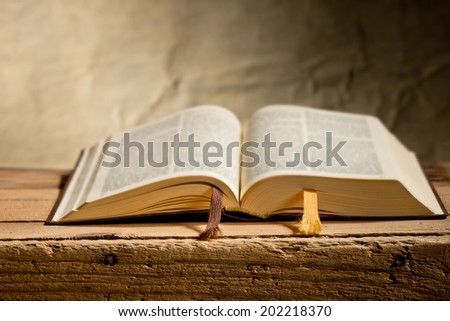 bible on the desk - stock photo