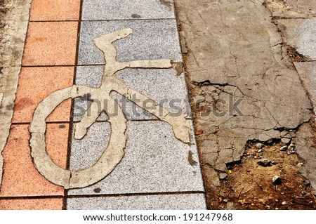 ?bicycle sign - stock photo