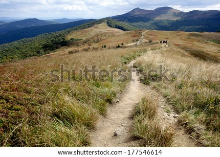 Bieszczady Mountains. Poland  - stock photo