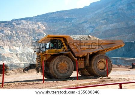 big yellow truck  - stock photo