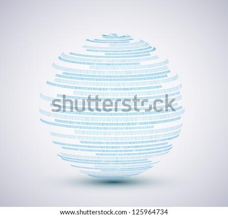 binary sphere background - stock photo