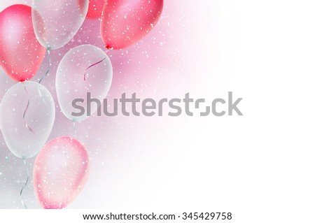 birthday card with balloons