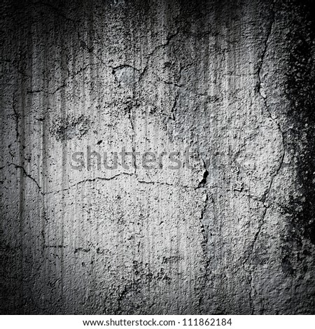 Black and white wall background - stock photo
