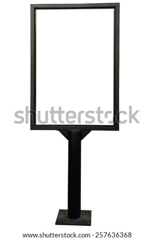 Black frame signboard - stock photo