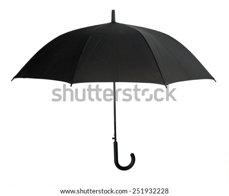 black umbrella isolated on white background