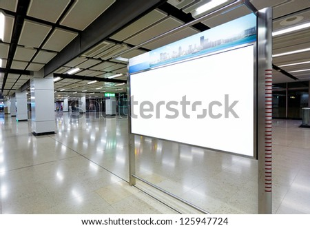 blank billboard for your advertising - stock photo
