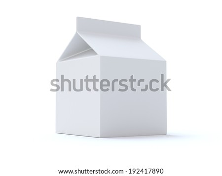 Blank Milk or Juice Box - stock photo