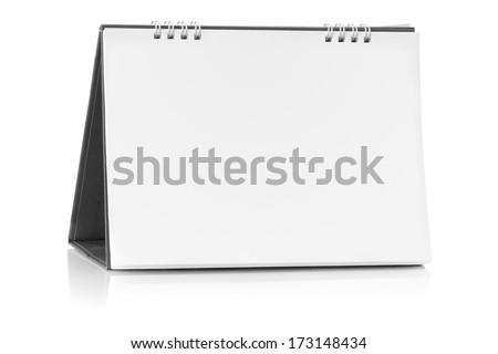 Blank paper desk spiral calendar with soft shadows. Photo - stock photo