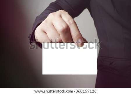 BLANK paper on the card , business concept , business idea - stock photo