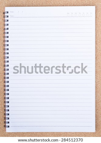 blank paper on wood wall.