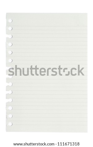 blank squared and lined notepad pages - stock photo