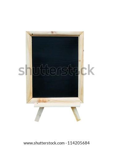 blank vintage slate blackboard isolated - stock photo