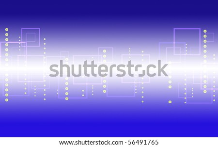blue abstract background of squares and circles