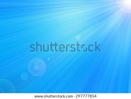 Blue diagonal radiant background with light glare.         - stock photo