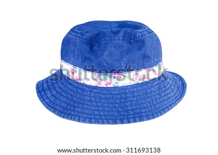 blue hat  isolated - stock photo
