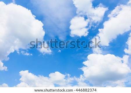 blue sky with white cloud close-up