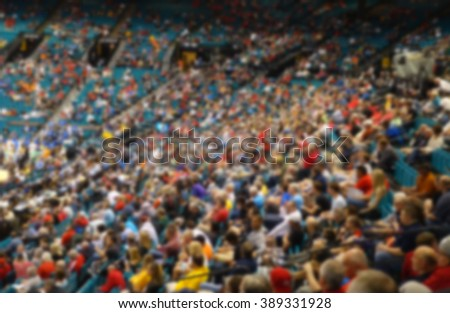 blurred background of crowd at live event