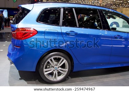 2015 BMW 2-Series Gran Tourer presented the 85th International Geneva Motor Show on March 3, 2015 in Palexpo, Geneva, Switzerland