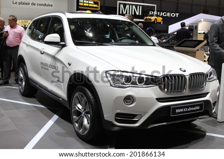 2014 BMW X3 presented at the 84th International Geneva Motor Show on March 4, 2014 in Palexpo, Geneva, Switzerland