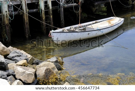 Boat at the Wharf - stock photo