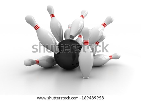 Boll and dart - stock photo