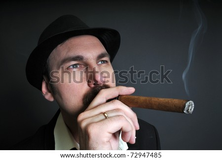 boss with cigar portrait