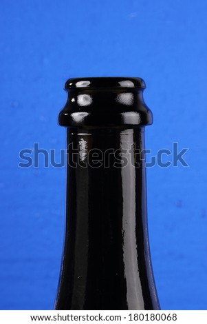 bottle neck with drops - stock photo