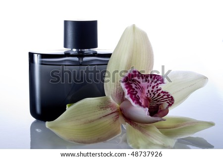 bottle of perfume for men - stock photo