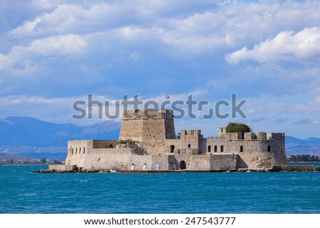Bourtzi castle, Nafplion, Greece