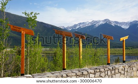Bow River  Viewpoint / Banff - stock photo