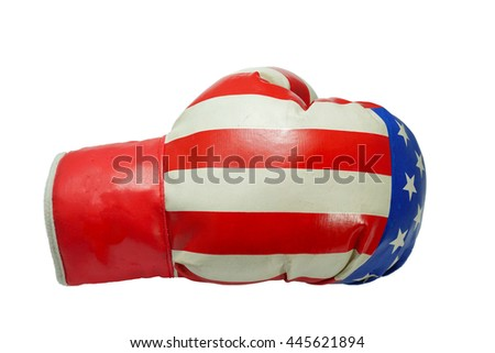 boxing gloves on a white background isolated with clipping path.                            - stock photo
