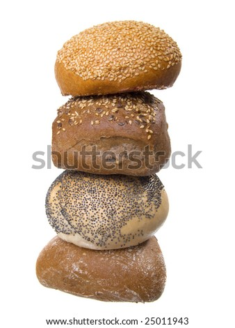 Bread buns isolated on a white background