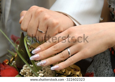 Bridal Image, Very nice bride of hand, nail art and ring