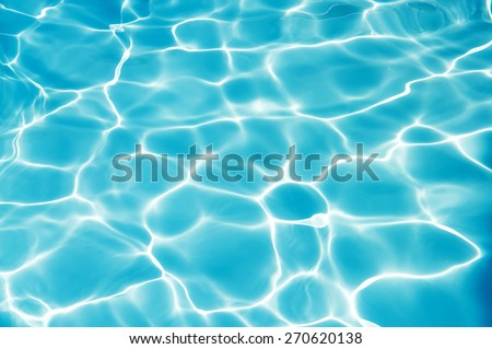 ?Bright water surface in swimming pool - stock photo