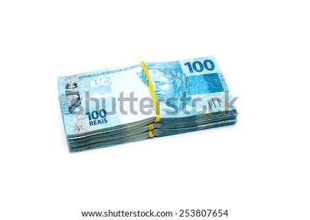 100 BRL - brazilian currency - stock photo