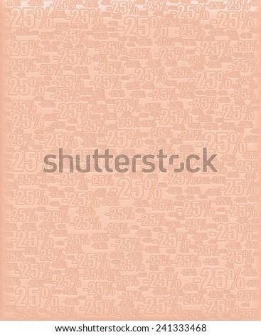 25% bronze metallic background - stock photo